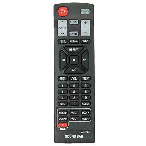 AKB73575421 Replacement Remote Control fit for LG Sound Bar NB4540 NB4530B NB4530A NB4530B NB4543 NBN36 NB4542 NB3532A NB4530A NB3530ANB NB3530A NB3520ANB NB3531A NB5540A NB3520A2 NB4532B