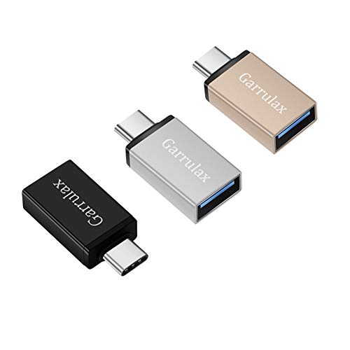 Garrulax USB C to USB Adapter,[3 Pack] Thunderbolt 3 to USB 3.0 Adapter Compatible for MacBook Pro 2019/2018,MacBook Air 2018,Surface Go, Dell XPS and More Type C Devices(Mix 3 Color)