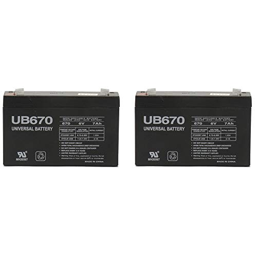Ride On Replacement 6V 7AH Battery for Kids Ride On Power Car Wheels - 2 Pack