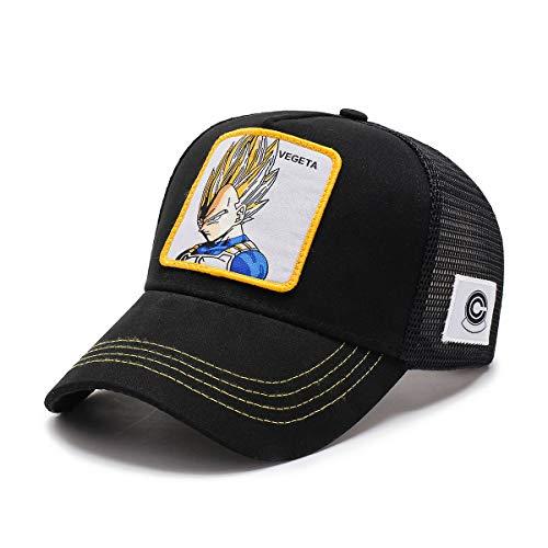 Goku Cap Dragon Ball Z Mesh Hat Vegeta & Kame & Frieza Baseball Cap Men Snapback Black