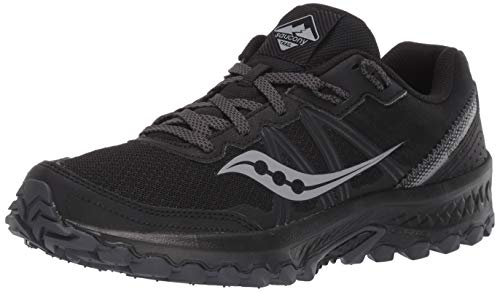 Saucony womens Excursion Tr14 Trail Running Shoe, Black/Charcoal, 10.5 Wide US