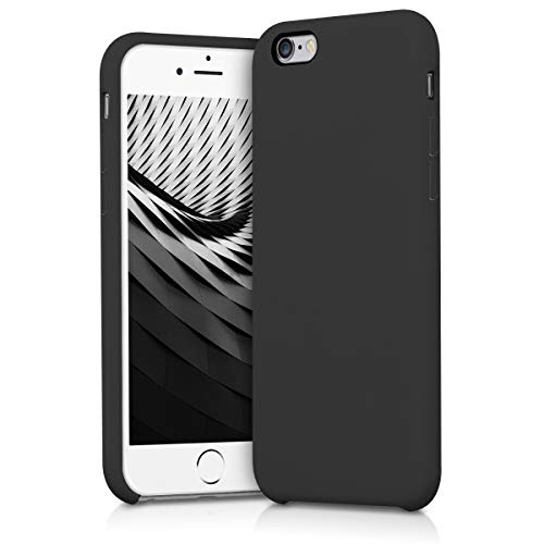 kwmobile TPU Silicone Case Compatible with Apple iPhone 6 / 6S - Case Slim Protective Phone Cover with Soft Finish - Black Matte