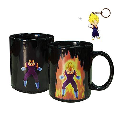 Vegeta Dragon Ball Z Changing Coffee Ceramic Cup Mug With Free Keychain