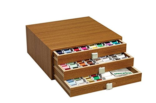 Madeira Thread Chest - Canadian Maple Finish - Filled with 194 Spools Maderia 40 Wt Rayon Embroidery Thread