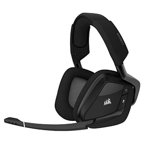 Corsair Void RGB Elite Wireless Premium Gaming Headset with 7.1 Surround Sound, Carbon