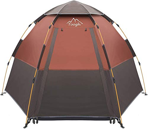 Toogh Waterproof Instant Camping Tent 2-3-4 Person Easy Quick Setup Dome Family Tents Sun Shelters Provide Top Rainfly