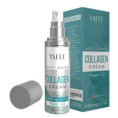 Collagen Cream - Day & Night – Anti-Wrinkle and Anti-Aging Face and Neck Wrinkle Moisturizer - Firming Formula Helps Reduce Appearance of Wrinkles and Fine Lines - Organic Natural Lotion With Vitamin