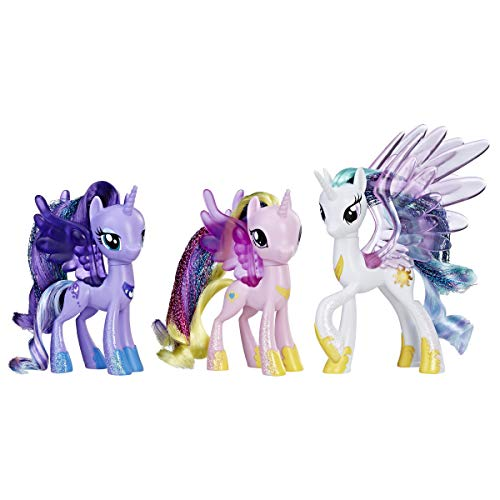 My Little Pony Princess Celestia, Luna, and Cadance 3 Pack – 3-Inch Glitter Unicorn Toys With Wings from the Movie
