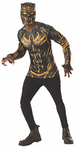 Rubie's Men's Marvel Black Panther Erik Killmonger Costume Top and Mask, X-Large