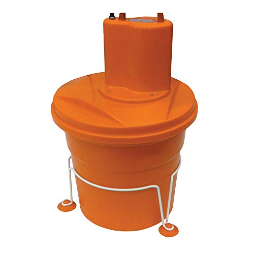 Dynamic EM98 Commercial Electric Salad Spinner With Stabilizing Base And 5 Gallon Capacity, Dries Up 8 Heads of Lettuce, 115 Volts