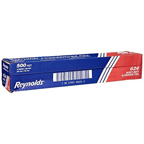 Reynolds 624 18' Width x 500' Length, Heavy Duty Aluminum Foil Roll