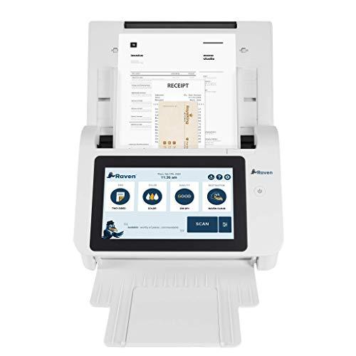 Raven Original Document Scanner - Huge Touchscreen, Color Duplex Feeder (ADF), Wireless Scanning to Cloud, WiFi, Ethernet, USB, Home or Office Desktop (2nd Gen)