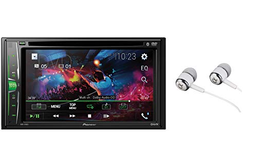 Pioneer AVH-210EX Double DIN Bluetooth In-Dash DVD/CD AM/FM Front USB Digital Media Car Stereo Receiver 6.2' WVGA Touchscreen Display, Apple iPhone and Android Music Support
