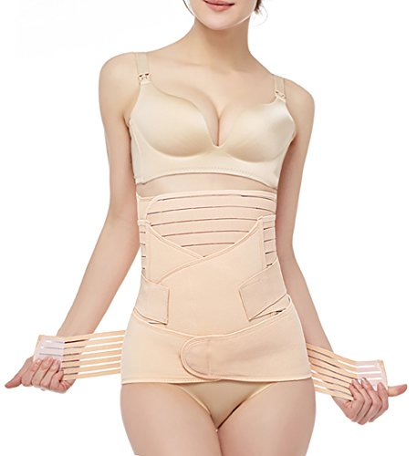 3 in 1 Postpartum Support - Recovery Belly Wrap Girdle Support Band Belt Body Shaper, Plus Size