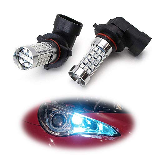 iJDMTOY (2) 12000K Ice/Aqua Blue 69-SMD 9005 9145 H10 LED Bulbs Compatible With High Beam Daytime Running Lights or Fog Light Replacements