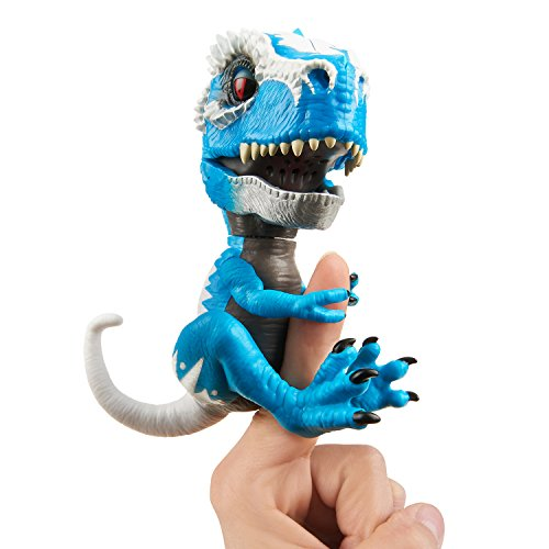 Untamed T-Rex by Fingerlings - Ironjaw (Blue) - Interactive Collectible Dinosaur - By WowWee