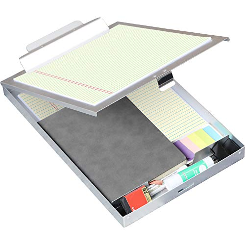ROCOFF Metal Clipboard with Storage - Letter Size Aluminum Clipboards, Heavy Duty Storage Clipboard - Great for Office, Jobsite or Classroom, Single Compartment