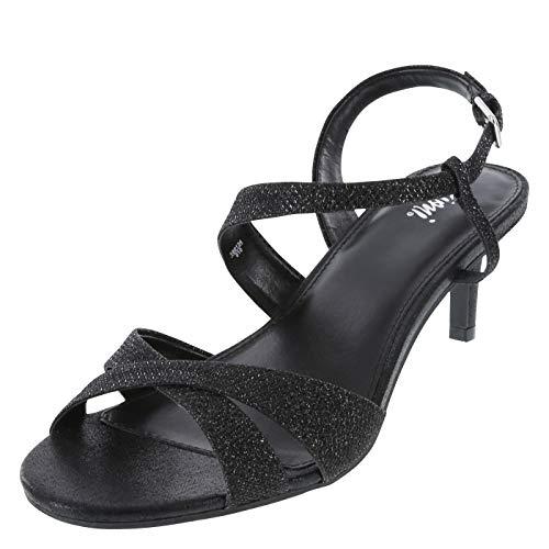 Fioni Black Women's Dazie Low Heel 9.5 Wide
