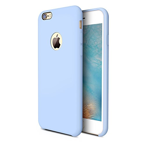 TORRAS [Love Series iPhone 6S Case/iPhone 6 Case, Liquid Silicone Rubber Shockproof Case with Soft Microfiber Cloth Cushion Compatible with iPhone 6 / 6S, Light Blue