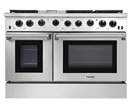 Thor Kitchen 4807 48 Pro-Style Natural Propane Gas Stainless Steel Range