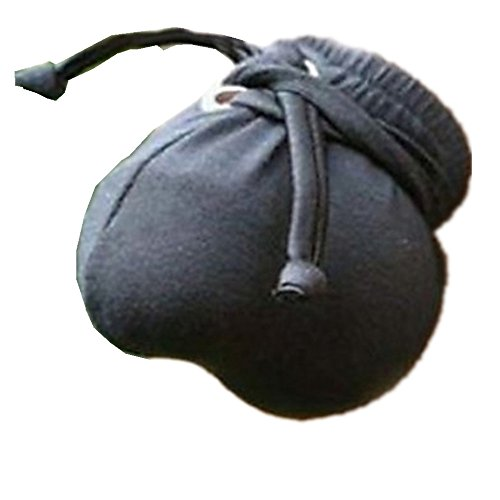 Men's Compact Bag Style G-strings & Thongs/Ultra Bulge Bikini Pouch (Black)