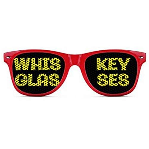 Whiskey Glasses - Funny Wayfarer Sunglasses - Multiple Colors Available (Red)