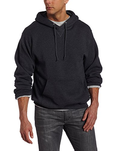 Russell Athletic Men's Dri-Power Pullover Fleece Hoodie, Black Heather, XX-Large