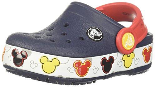 Crocs Baby Crocband Mickey FnLb Lights K Clog, Navy, 8 M US Toddler