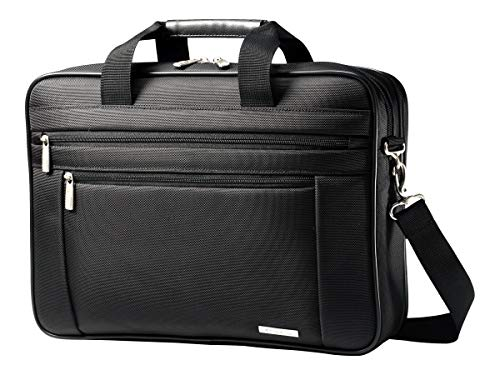 Samsonite Classic Business Perfect Fit Two Gusset Laptop Bag - 15.6' Black