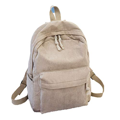 Woman Backpack Corduroy Backpack School Bag For Teenage Girls Travel Backpack Soft Touch Shoulder Bags Simple Style