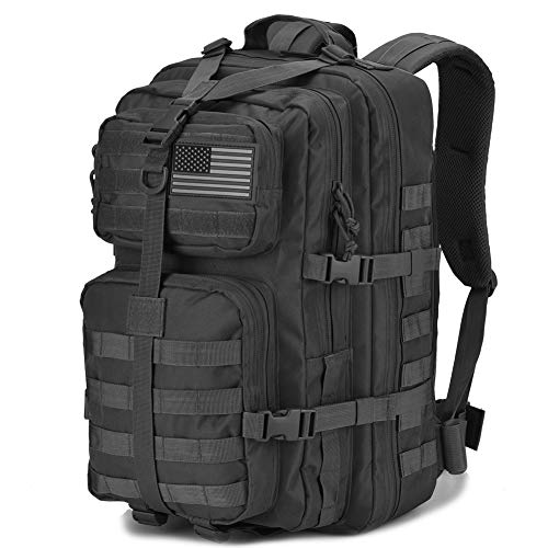 DIGBUG Military Tactical Backpack Large Army 3 Day Assault Pack Molle Bug Bag Backpacks Rucksacks for Outdoor Sport Hiking Camping Hunting 40L Black