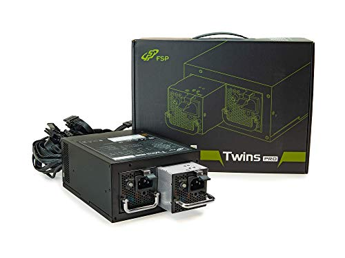 FSP Twins Pro ATX PS2 1+1 Dual Module 900W 80 Plus Gold Hot Swappable Redundant Digital Power Supply with Guardian Monitor Software (Twins Pro 900)