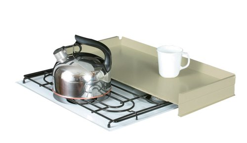 Camco RV Stove Top Cover, Universal Fit, Add Extra Counter Space To Your Camper Or RV (Almond) - 43559