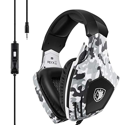 Sades SA618 Surround Sound Gaming Headset for Xbox one/PS4/PC,Stereo Sound Headphones with 3.5mm Jack, Noise Cancelling Mic