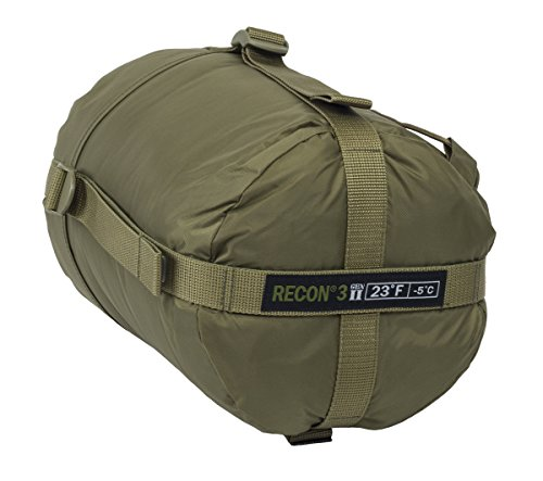 Elite Survival Systems ELSRECON3-T Recon 3 Rated to 23 Degree Fahrenheit Sleeping Bag, Coyote Tan