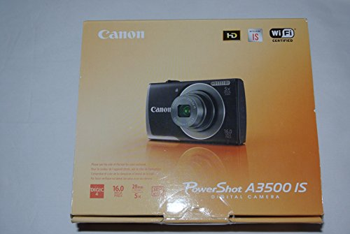 Canon PowerShot A3500 IS 16MP Digital Camera with 5x Optical Image Stabilized Zoom, 3.0-Inch LCD (Red)