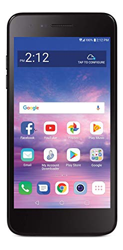 Tracfone Carrier-Locked LG Rebel 4 4G LTE Prepaid Smartphone - Black - 16GB - Sim Card Included - CDMA, standart