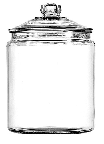 Anchor Hocking 1-Gallon Heritage Hill Jar with Lid, 2 Pack, Clear