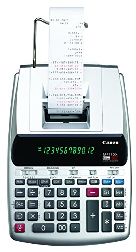 Canon Office Products 2198C001 Canon MP11DX-2 Desktop Printing Calculator with Currency Conversion, Clock and Calendar