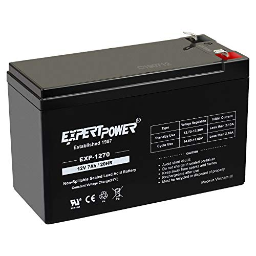 ExpertPower 12v 7ah Rechargeable Sealed Lead Acid Battery || EXP1270|| Replaces TEMPEST 12V7.5AH,TR7.5-12A,TR7.2-12A RAZOR Scooter 7ah Enduring CB7-12, CB-7-12
