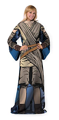 Disney's Star Wars Episode 7: The Force Awakens, 'Jakku Rey' Adult Comfy Throw Blanket with Sleeves, 48' x 71', Multi Color