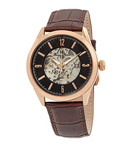 Lucien Piccard Men's LP-10660A-RG-01-BRW Loft Rose Gold-Tone Stainless Steel Automatic Watch with Brown Leather Band