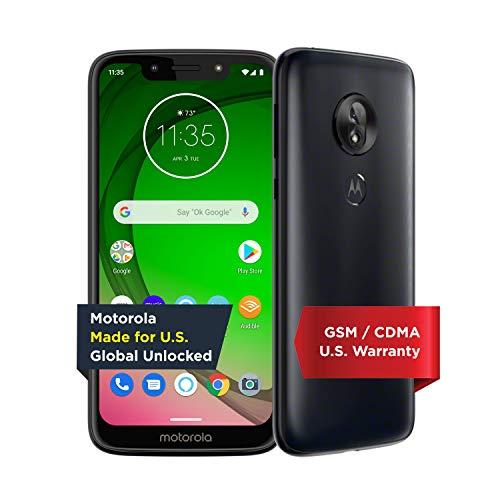 Moto G7 Play with Alexa Push-to-Talk – Unlocked – 32 GB – Deep Indigo (US Warranty) – Verizon, AT&T, T–Mobile, Sprint, Boost, Cricket, & Metro