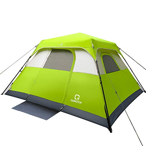 OT QOMOTOP Tents, 6 Person 60 Sec Set Up Camping Tent, Waterproof Family Tent with Top Rainfly, Instant Cabin Tent, Advanced Venting Design, Green