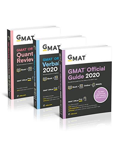 GMAT Official Guide 2020 Bundle: 3 Books + Online Question Bank