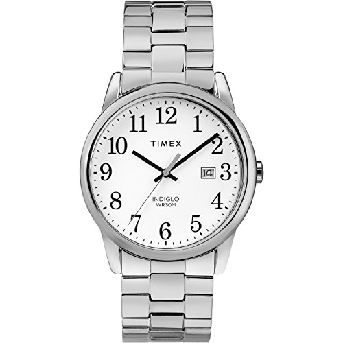 Timex Men's TW2R58400 Easy Reader 38mm Silver-Tone Stainless Steel Expansion Band Watch