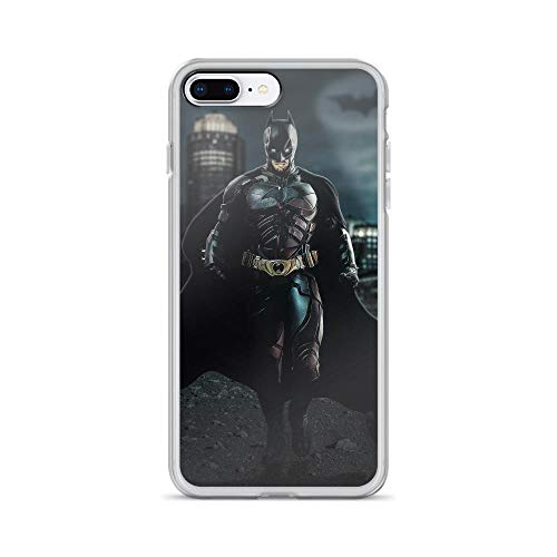 Bat-Man Superhero Comic The Dark Knight with Batmobile Anti-Scratch Case Compatible for iPhone 7 Plus/8 Plus