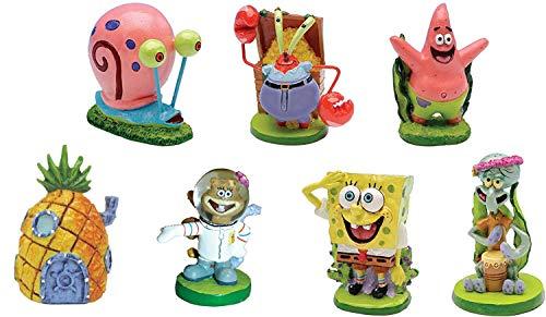 SpongeBob SquarePants 2' Aquarium Ornaments, 7-Piece Set
