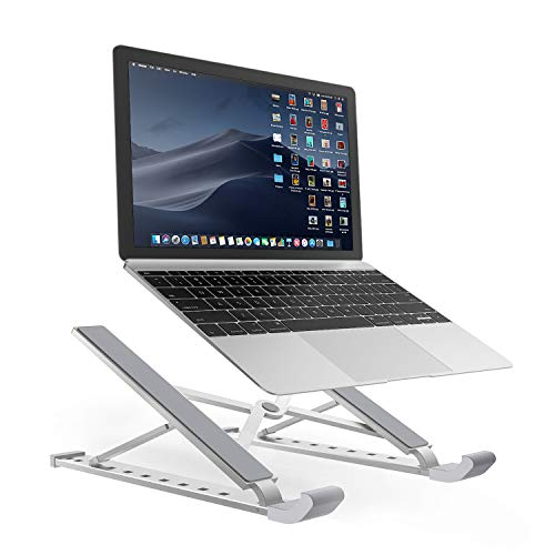 Portable Laptop Stand Foldable Adjustable Laptop Stand Holder Universal Ergonomic Aluminium Alloy Travel Mini Ventilated Notebook Stand for MacBook Notebook Computer PC iPad Between 10' to 15.6'