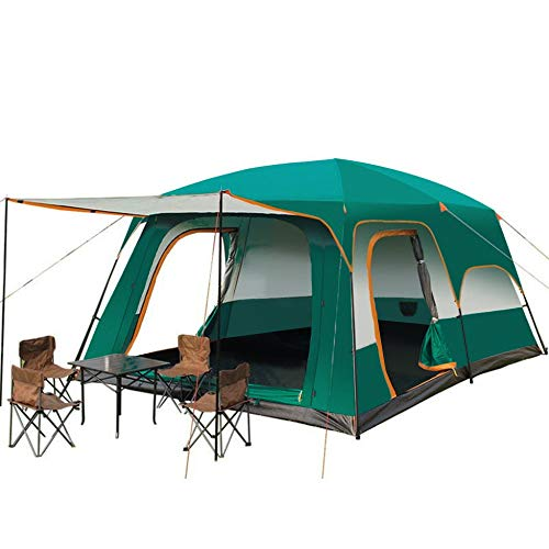 YGY Camping Tent 2 Room Large Space for 3-6 People, Weatherproof,for Parties,Picnic, Outdoors Travel,Camping Family Tents (10.8'x 6.9' x 6.25')